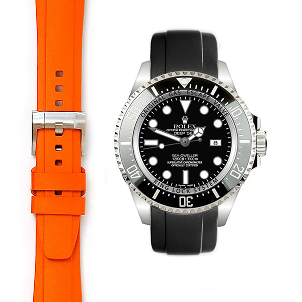 Everest Deepsea Curved End Rubber With Tang Buckle
